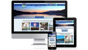 Sitio web adaptable para dispositivos móviles de LakeGeorge.com