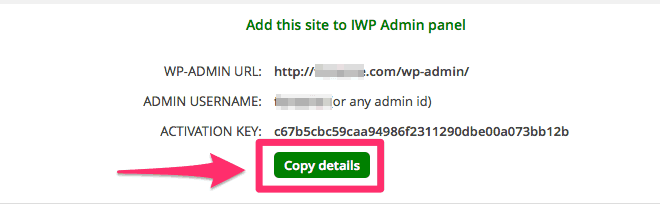 Agregar webs a InfiniteWP paso 2
