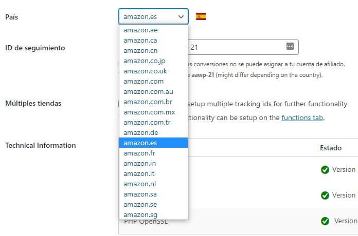 Amazon Afiliados en varios países
