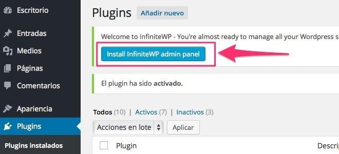 Instalar InfiniteWP paso 4