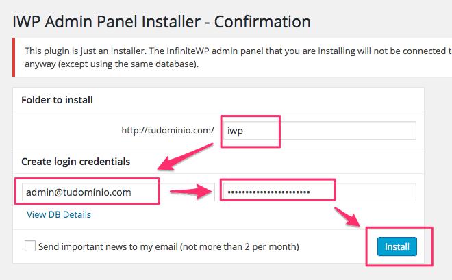 Instalar InfiniteWP paso 6