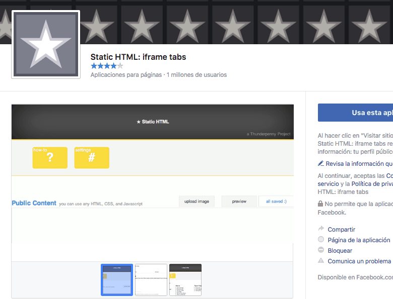 Utiliza una app para crear una landing page en Facebook