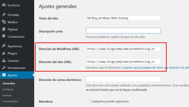 Preferencias de URL en WordPress
