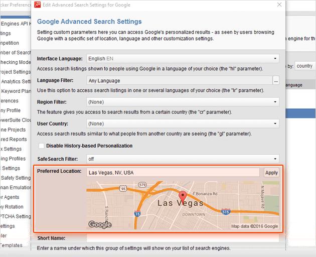 Rank Tracker puede monitorizar rankings locales