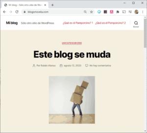 Blog migrado de Blogger a WordPress