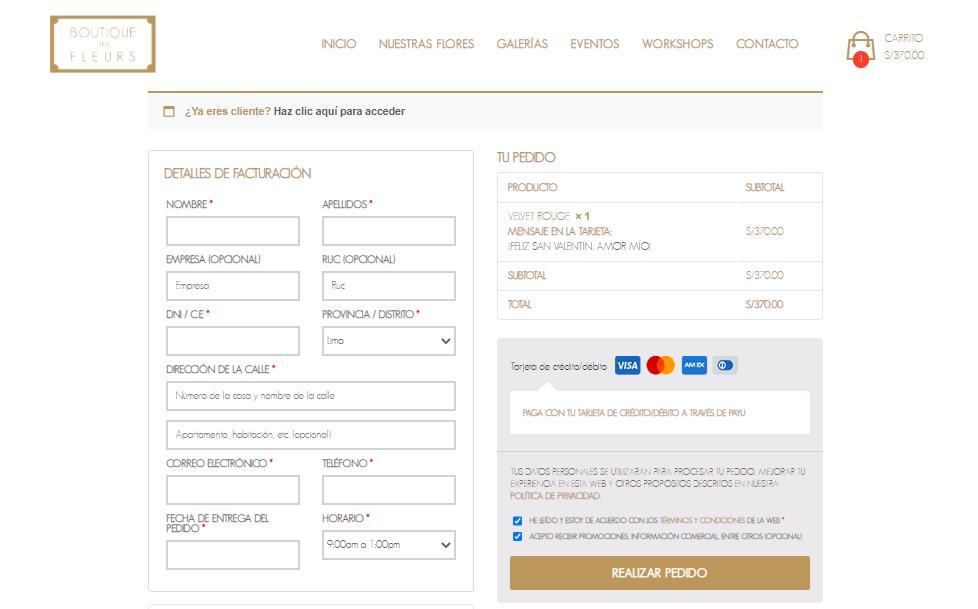 pasarela de pago ecommerce Perú BDF