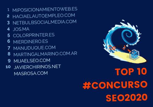 Corte Top 10 concurso SEO
