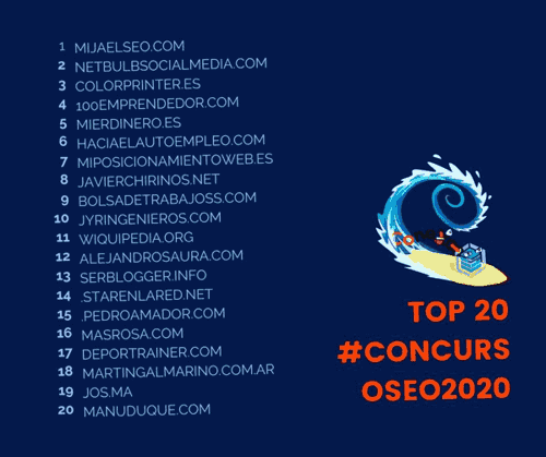 Corte Top 20 concurso SEO