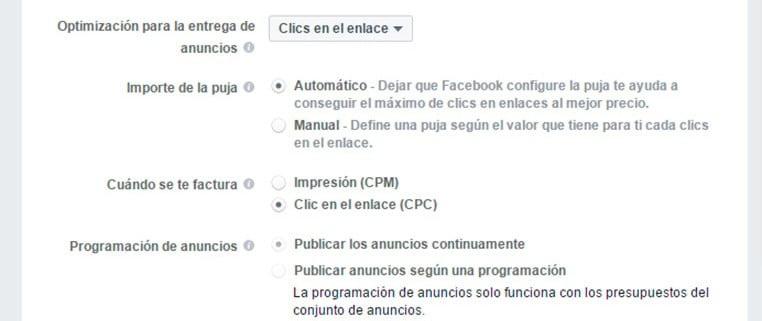 CPC y CPM en Facebook