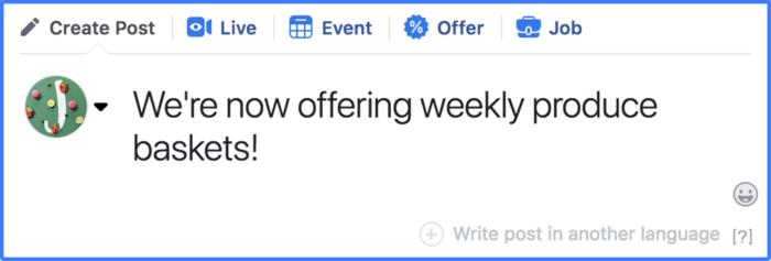 Publicación de cotizaciones en páginas de Facebook