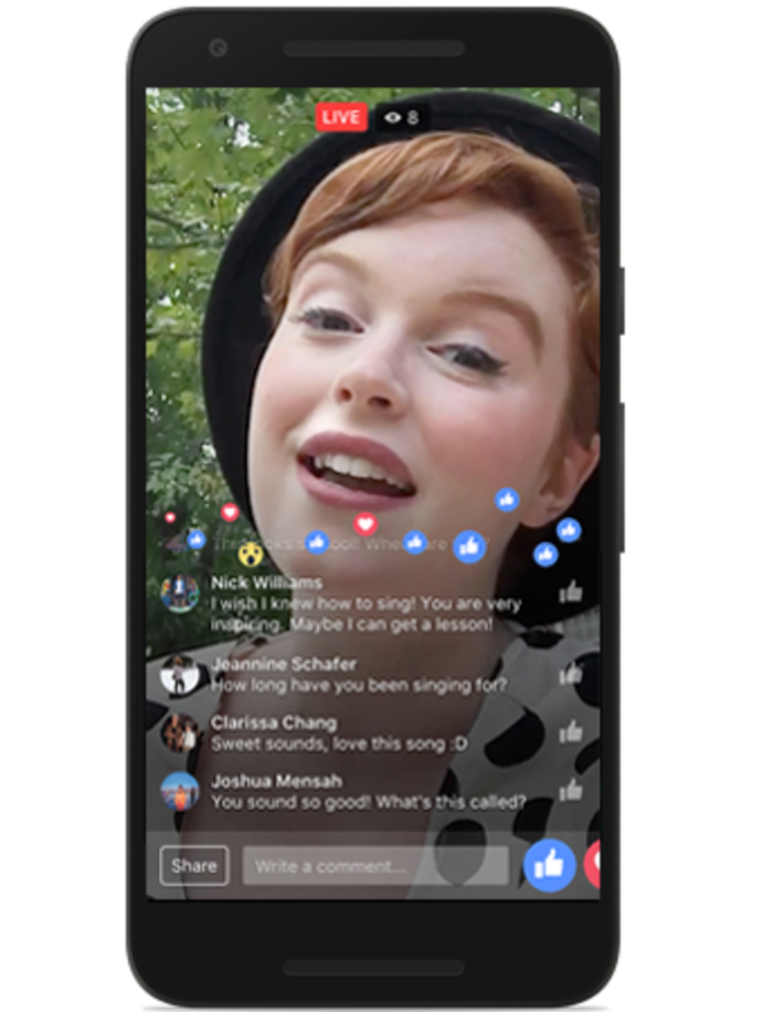 Facebook Live en la página de Facebook