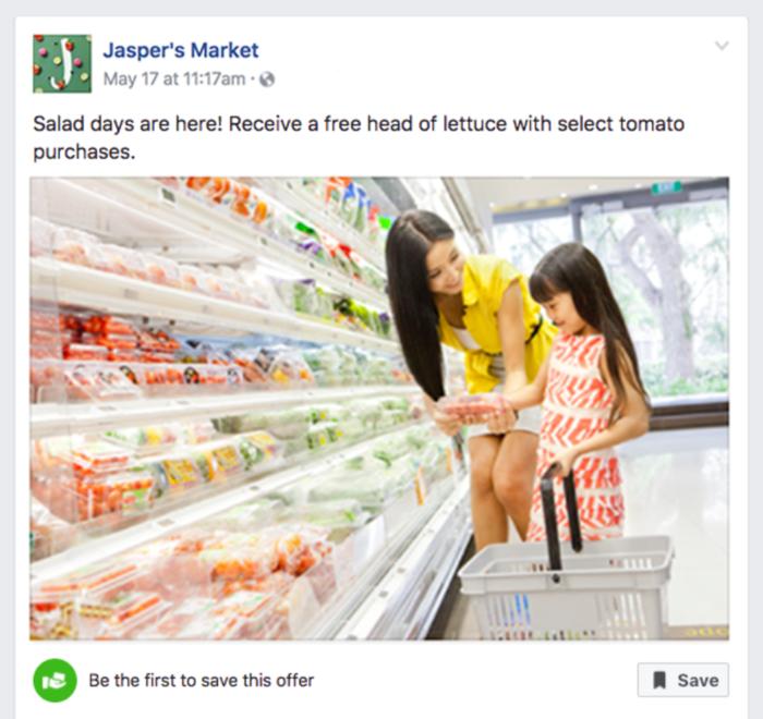 Ofertas en la página de Facebook