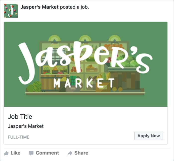 Trabajar en la página de Facebook