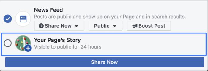 Historias página de facebook