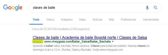 Publicidad pagada de Google