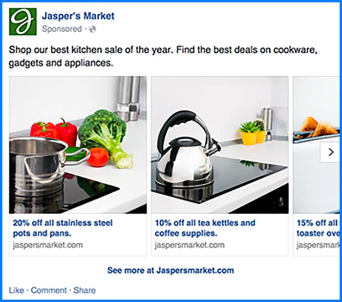 Secuencia de publicidad de Facebook