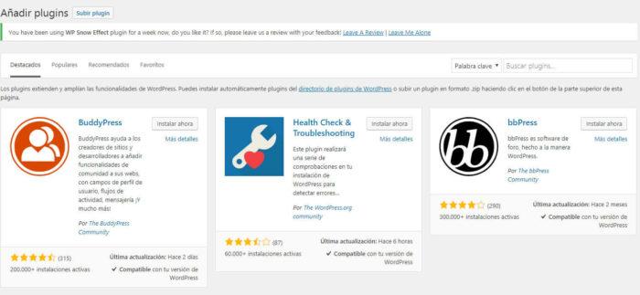 Plugin de selección de plugins de WordPress