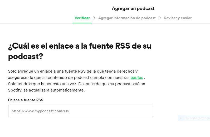 como subir un podcast a spotify