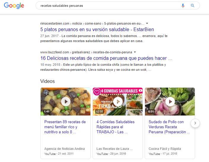 resultados de Google