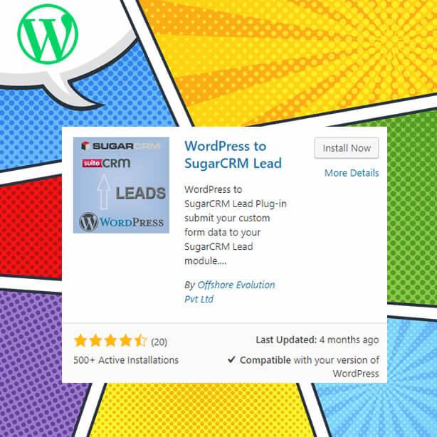Complemento de integración de WordPress-Sugar CRM
