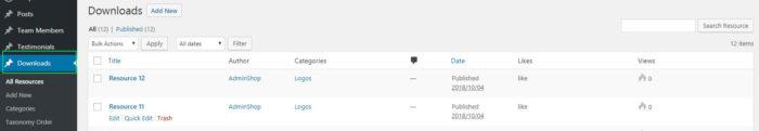 Panel de control del complemento de WordPress