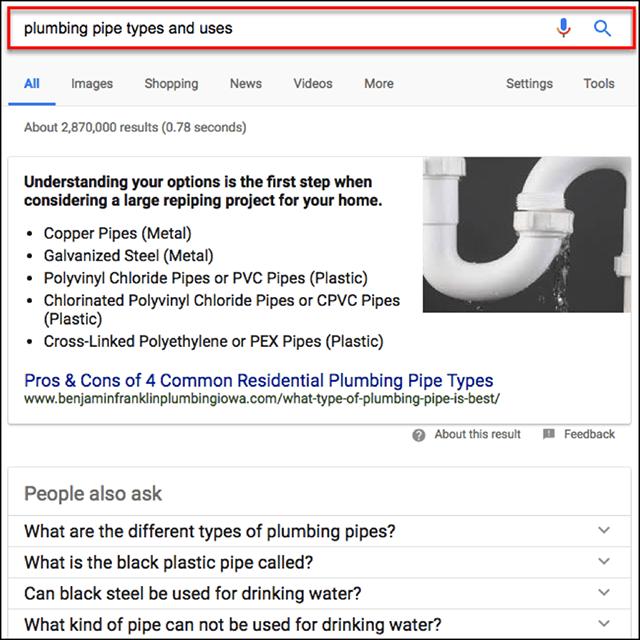 Diferentes términos de búsqueda sobre el mismo tema dan la misma respuesta |  Consultas populares