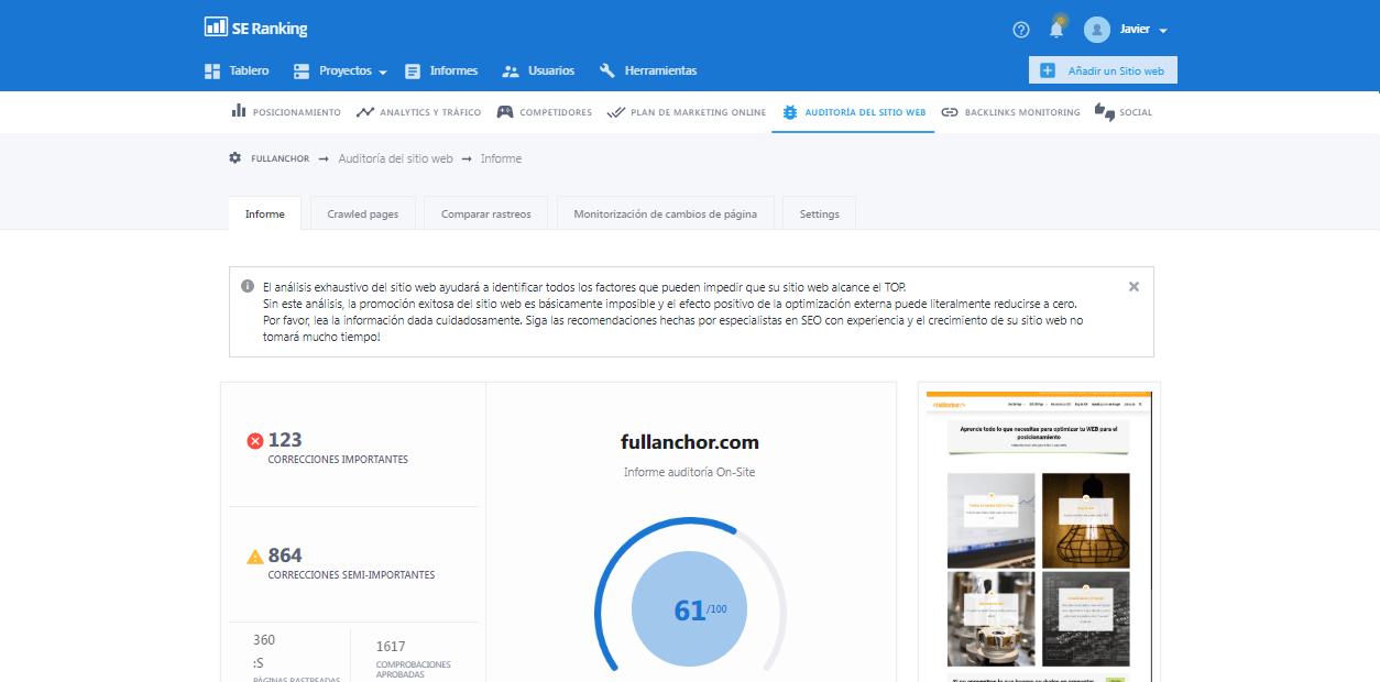 semrush reemplazar ahrefs moz búsqueda seo auditoría