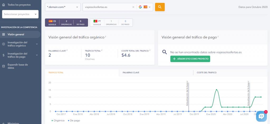 Encuentre y busque dominios heredados para analizar el tráfico