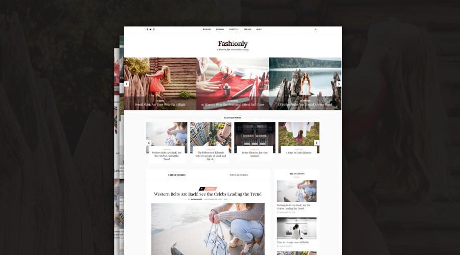 Elegante blog de moda minimalista elegante tema de WordPress