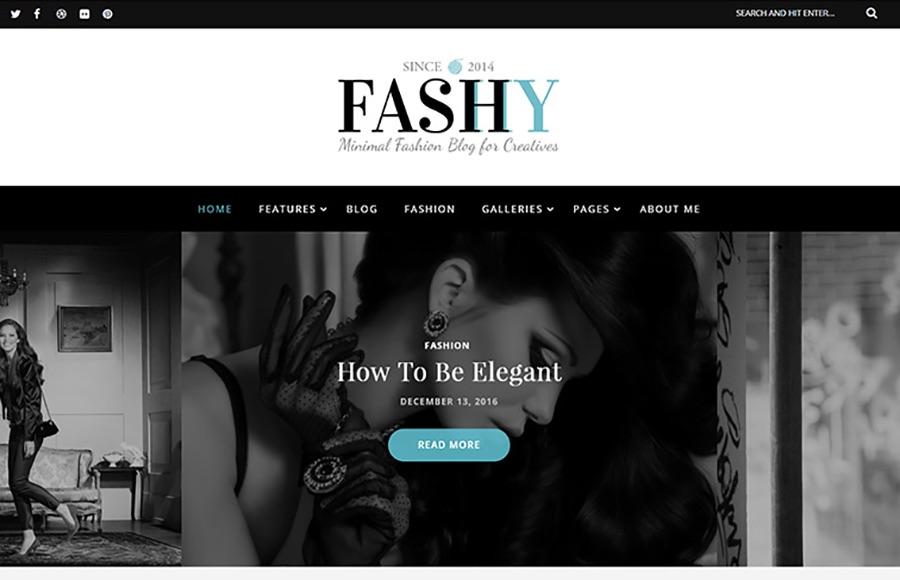 Tema de WordPress para blogs de moda