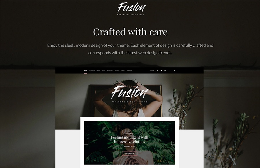 Tema de blog de Fusion WordPress