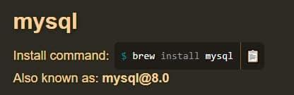 Instalar MySQL con Homebrew en Mac
