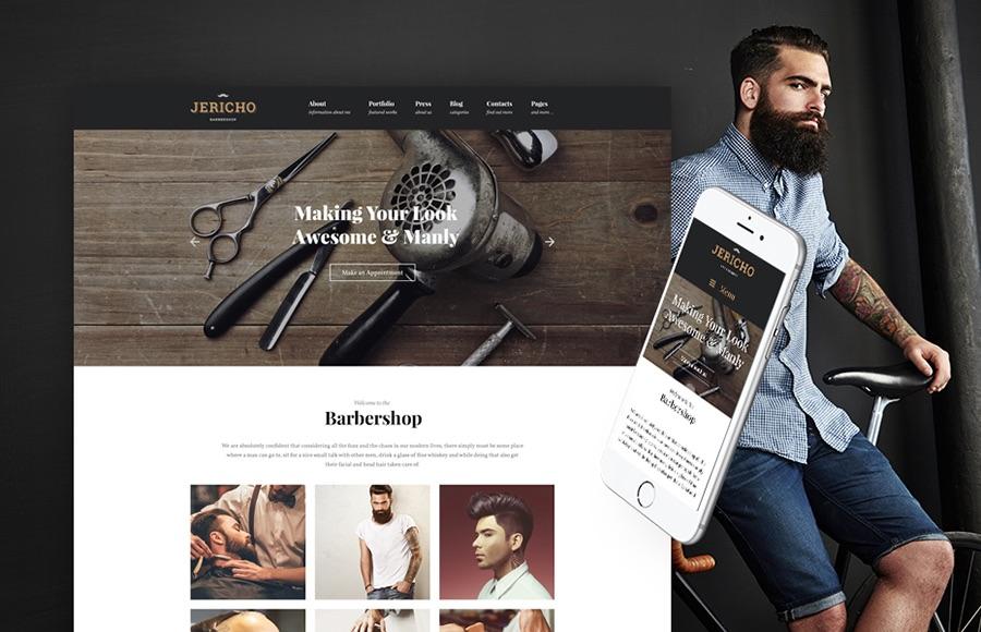 Jericho moderno tema de WordPress para barbería