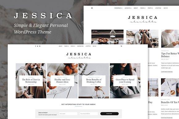 Tema del blog personal de Jessica