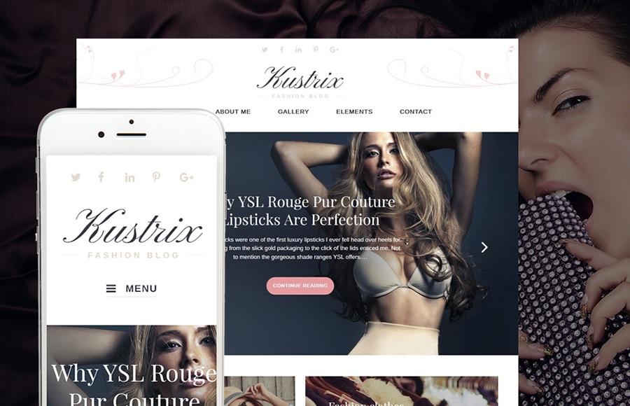 Tema de WordPress de la revista Kustrix Fashion Blog