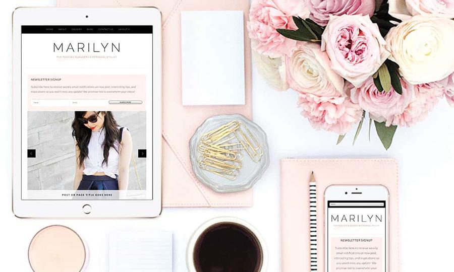 Tema de blogger de moda de Marilyn