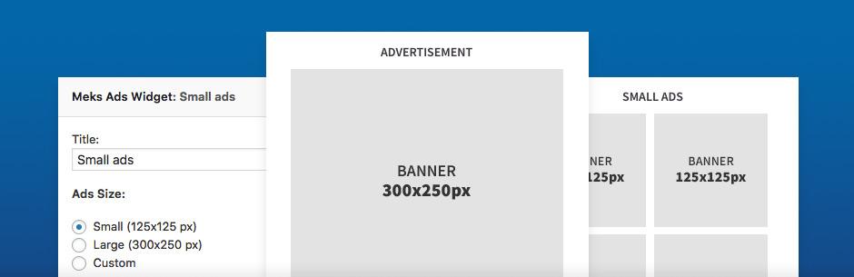 Widget de anuncios fáciles de Meks