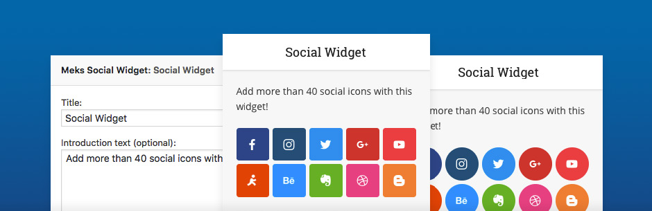 Widget social inteligente de Meks