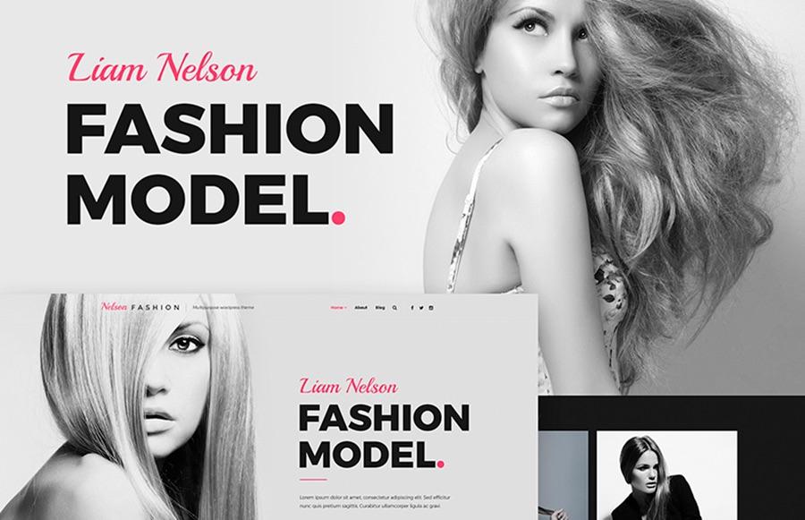 Tema de WordPress para agencia de modelado Nielsen