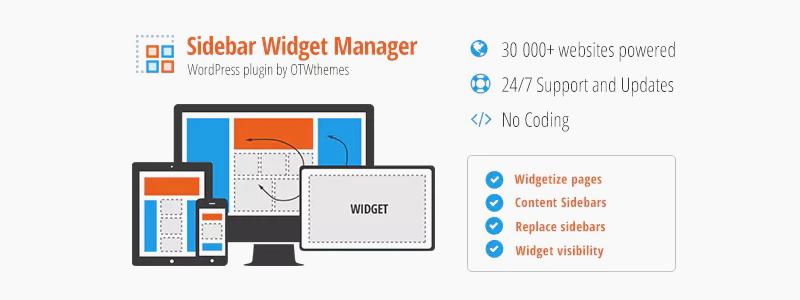 Administrador de barra lateral y widgets para WordPress