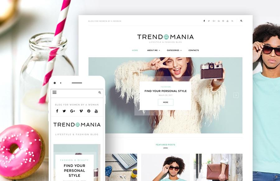 Tema de WordPress para el blog de moda y estilo de vida de Trendomania