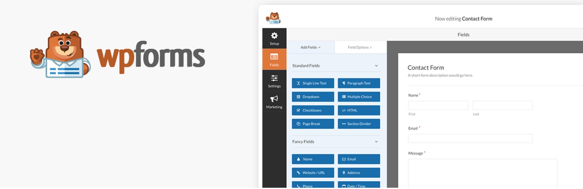 Complemento WordPress WPForms