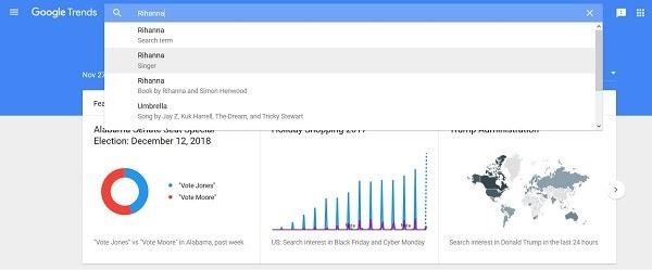 El motor de búsqueda de palabras clave de Tendencias de Google ahora muestra datos de búsqueda de YouTube.
