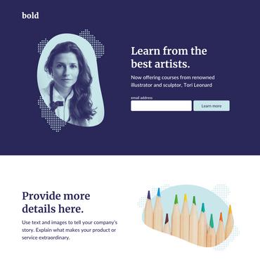 Bold es la plantilla perfecta para libros electrónicos, boletines e incluso herramientas.