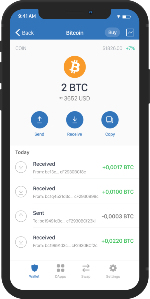 Billetera Bitcoin Trust
