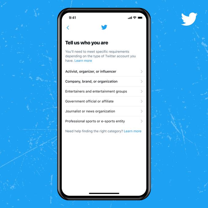 Confirmación de la cuenta de Twitter