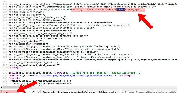Buscar temas en el código fuente