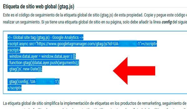 Código de Google Analytics