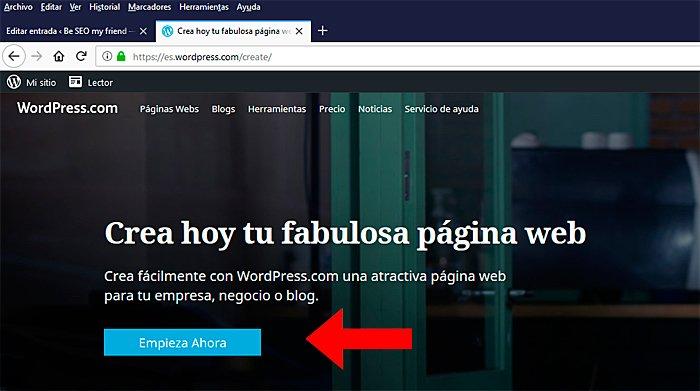 Crea un blog en WP