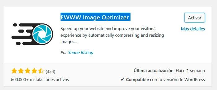 ewww optimizador de imágenes